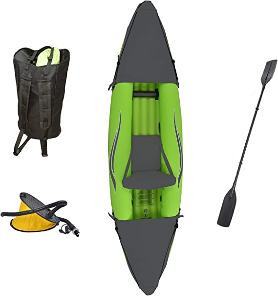 Outdoor Tuff Stinger 3 OTF-2751PK Inflatable One-Person Sport Kayak with Rotatable Paddle