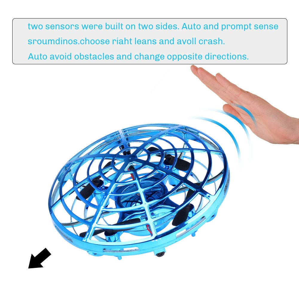 UFO Flying Ball Toys, Gravity Defying Hand-Controlled Suspension Helicopter Toy, Infrared Induction Interactive Drone Indoor Flyer Toys with 360° Rotating and LED Lights for Kids, Teenagers Boys Girls by CPSYUB (Image #4)