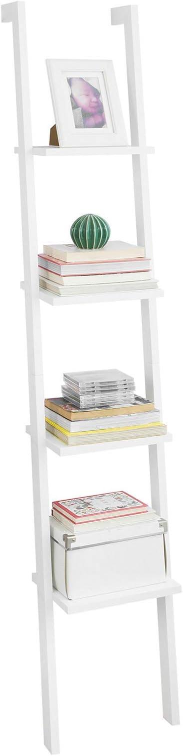 SoBuy® - FRG15, IT - Scala - Estantería modular con diseño de escalera inclinada, cuatro baldas