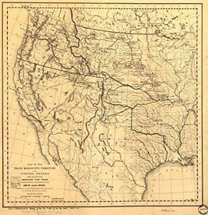 Amazon.com: Map of the Trans-Mississippi of the United ...