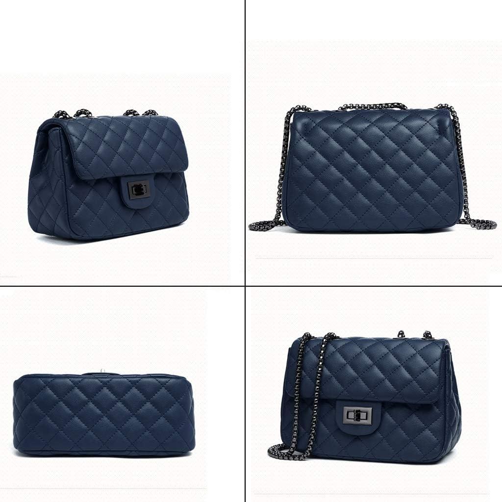 Kmgjc Womens Bag New Shoulder Messenger Bag Fashion Chain Bag Fashion Color : B, Size : 836 inches