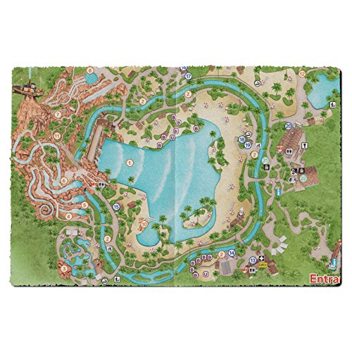 Typhoon Lagoon Map Door Mat - Small Door Mat - Indoor - Lagoon Of Map Typhoon