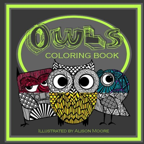 Owls: Coloring Book