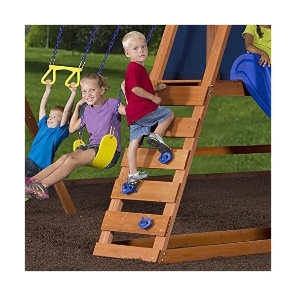 Backyard Discovery Dayton All Cedar Wood Playset Swing Set Your