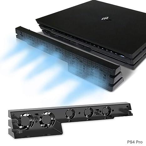 PS4 Pro Turbo refrigerador ventilador de refrigeración, Súper USB Cooling Fan Cooler con sensor de