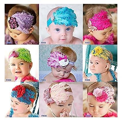 M/ädchen WeiMay Haarband f/ür Babys elastisch 8 St/ück