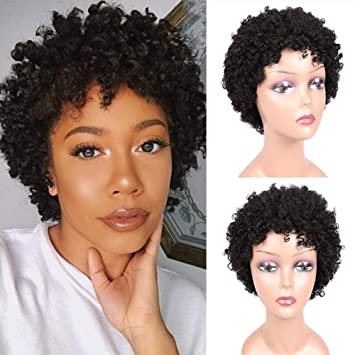Short Afro Wigs Afro Kinky Curly Wig Brazilian