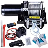 ReaseJoy 12V Electric Recovery Winch Kit for ATV UTV Trailer Truck Car 3000lbs(1361kgs) Capacity Wireless Remote Control