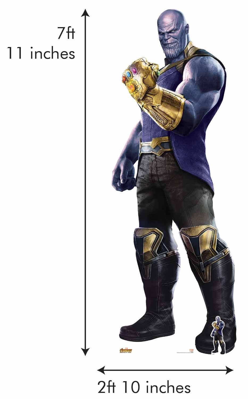 Star Cutouts SC1243 Marvel Avengers Infinity War Thanos the Mad Titan Josh Brolin Giant Life-Size Cardboard Cut-Out, Multi-Colour, 241 x 87 cm