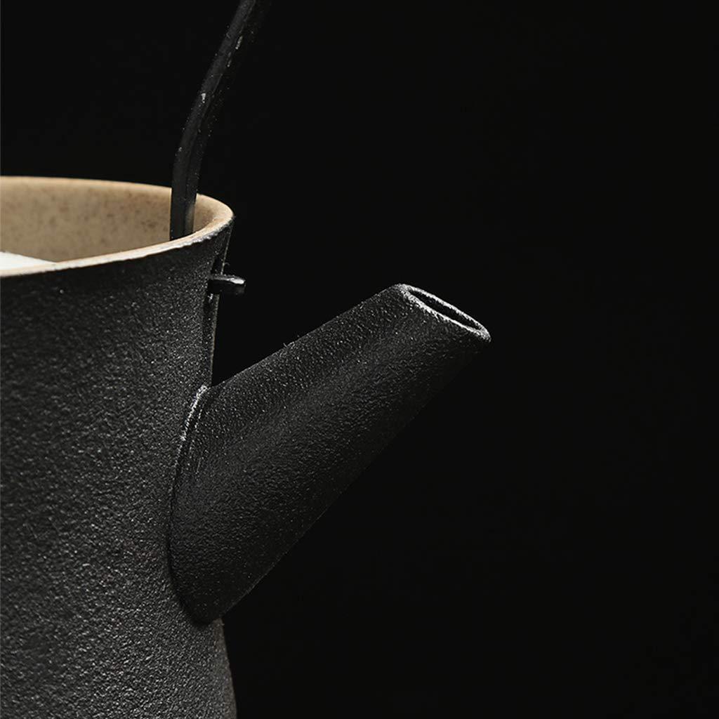 Tea sets Japanese Minimalist Black Ceramic Teapot, Travel Outdoor Travel Teapot and 6 Teacup, Kung Fu Tea Set of 8 by Tea sets (Image #9)