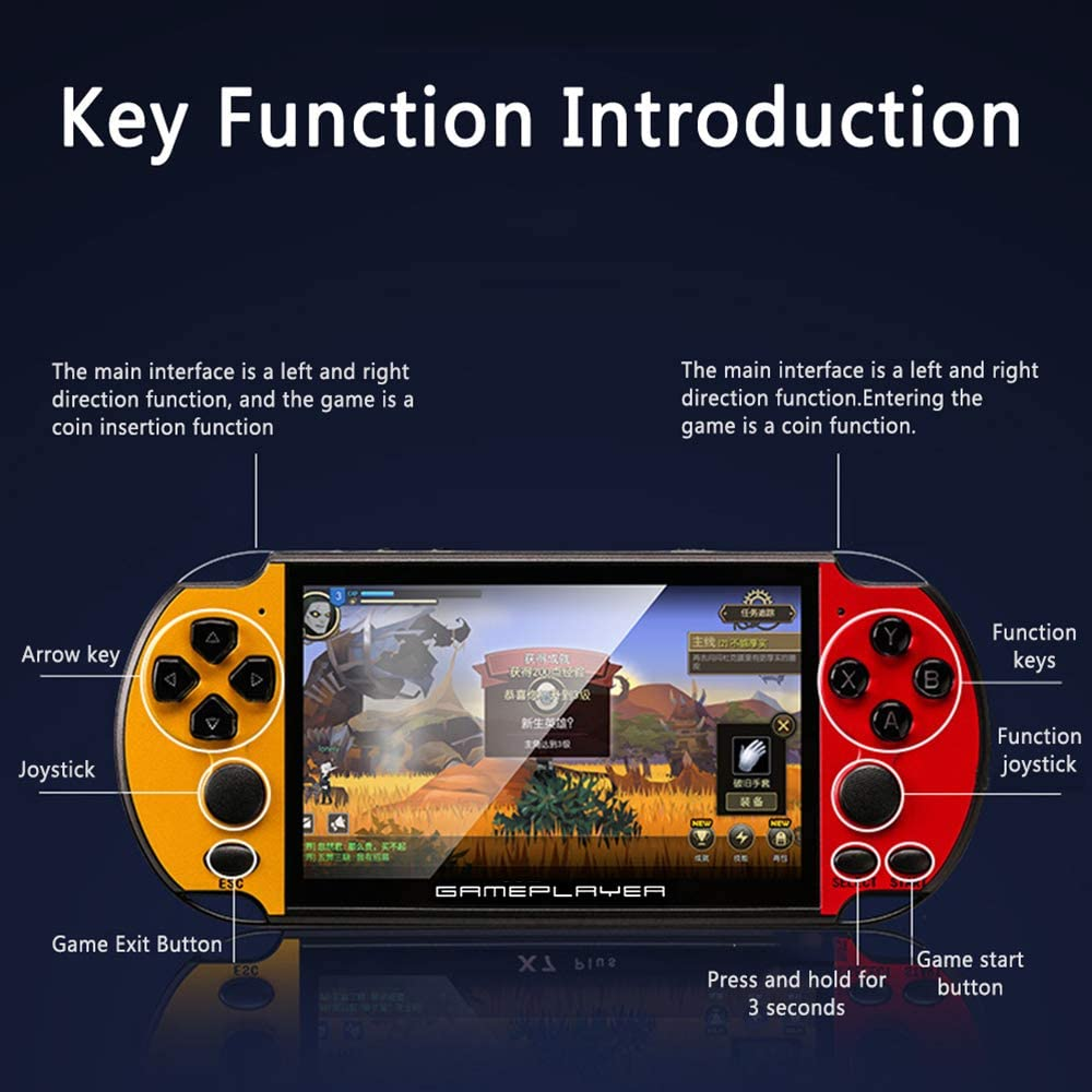 Faxiang 5.1 Retro Game Player Portable Handheld Game Consoles Player Built-in 10000 Games Built-in Rechargeable Battery Color Display Gaming Player