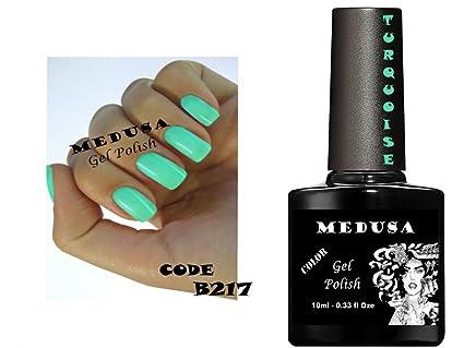 Vernis à ongles gel Medusa B217 Bleu Turquoise Vert Soak Off UV/LED 10 ml