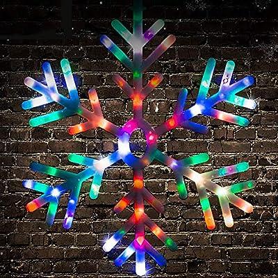 60cm Indoor Outdoor Blue And White LED Snowflake Shape Christmas Xmas Decoration
