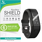 [6-Pack] RinoGear for Garmin Vivosmart HR+ Plus Screen Protector [Active Protection] Full Coverage (Garmin Approach X40) Flexible HD Crystal Clear Anti-Bubble Film