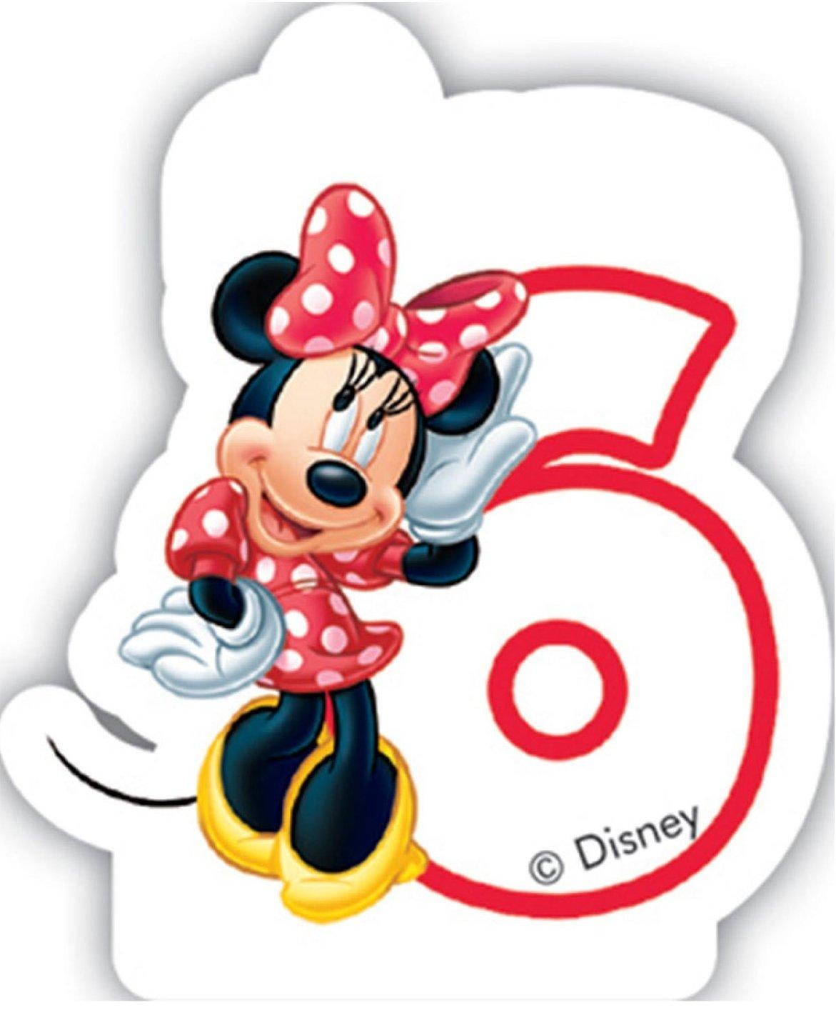 Vela Número 6 * * Minnie Mouse para niños Cumpleaños/Fiesta ...