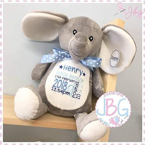 ecfbea80c489 Personalised Grey elephant