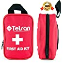 Compact First Aid Kit. Hospital grade medical supplies for emergency or Survival situations. 51-Piece FDA Approved Lightweight Essential Supplies bag by Telsan. Ideal For Home, Car, Outdoor activities