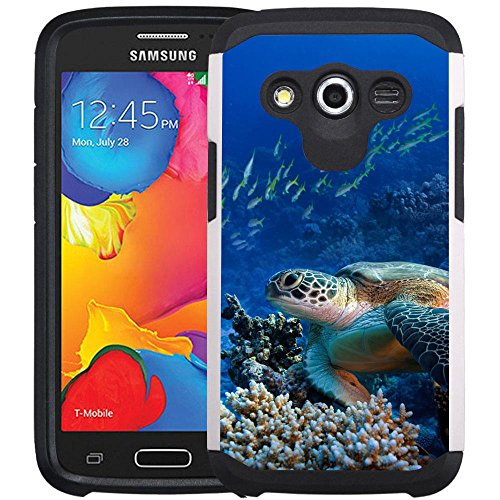 Galaxy Avant Case - Armatus Gear (TM) Slim Hybrid Armor Case Protective Cover for Samsung Galaxy Avant G386T - Sea Turtle (Mobile Phone Case Galaxy T Avant)