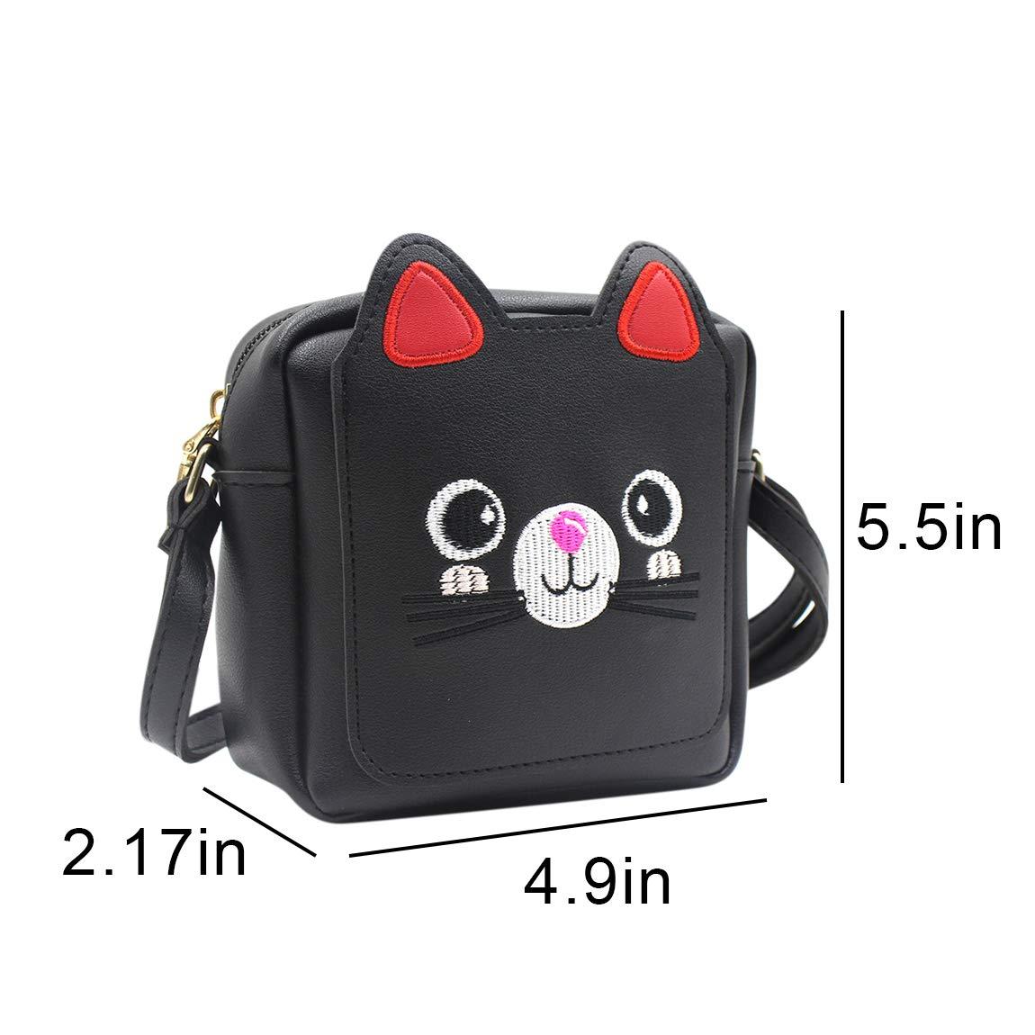 Amazon.com  Kids Girls  Cute Cat Crossbody Shoulder Bag Small Satchel Handbag  Purse Schoolbag  Clothing ae832fecd7924