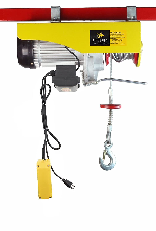 Steel Dragon Tools 2200 Lbs Mini Electric Wire Cable Hoist Overhead Crane Wiring Diagram Trolleymotorandoverheadcranewiring Lift With Remote Control