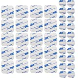 M-jump 40pcs Adhesive Tape Double Sided White Foam Tape Strong Pad Mounting Adhesive (square+round)