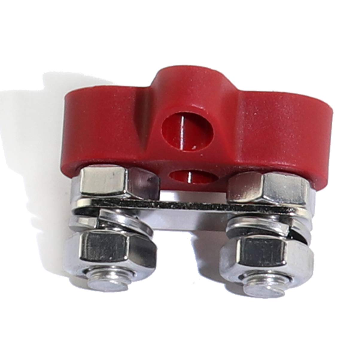 Boeray Dual Heavy-Duty Terminal Studs with Connecting Bus Bar Power Terminal Blocks Link Negative M6 M6 Positive Power Distribution Studs