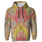 Men's Hoodie Tall Sweatshirt Kangaroo Pocket Egyptian Persian Traditional Juniors