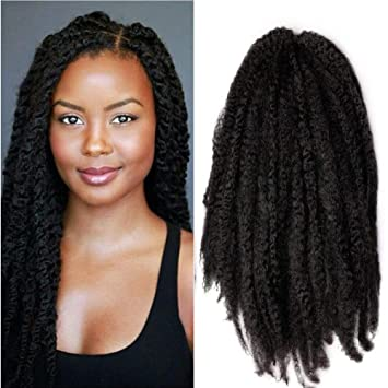 Amazoncom Wanya 18 Afro Twist Braid Hair Kinky Marley Crochet