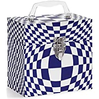 Tunes-Tote Illusion Blue 45 RPM Vinyl Record Storage. Vinyl Record Case - Picture Sleeve Storage, Carry & Protector (4504)