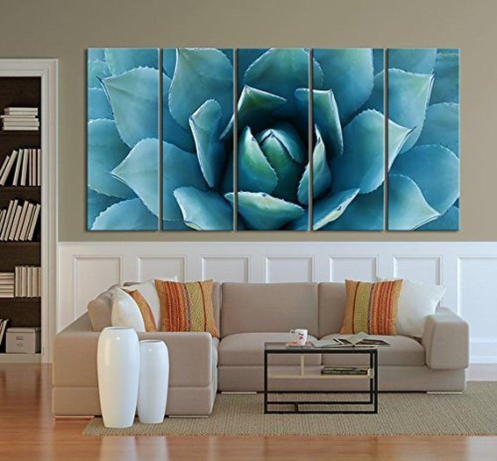 Amazon.com: TANDA Large Wall Art Blue Agave Canvas Prints Agave ...
