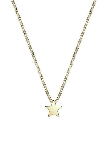 Goldkette damen stern  Elli PREMIUM Damen Schmuck Kette mit Anhänger Stern Astro Trend ...