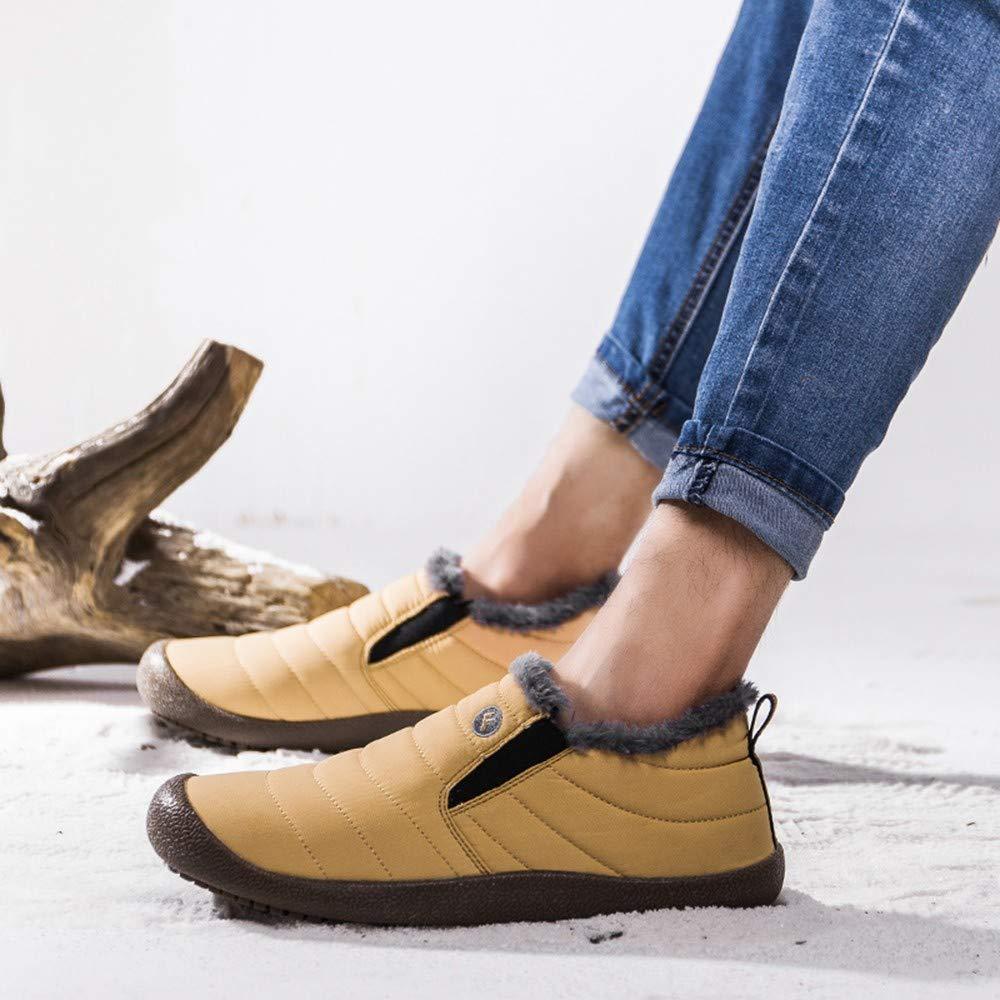 Amazon.com: TIFENNY Mens Non-Slip Plus Velvet Warm Cotton Shoes Fashion Snow Boots Plush Soft Warm Lazy Shoes: Clothing