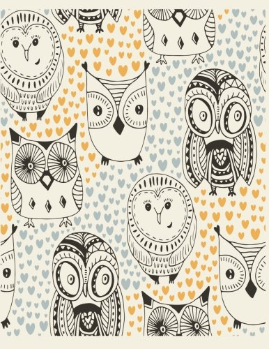Sketch book: Owl cover (8.5 x 11)  inches 110 pages, Blank Unlined Paper for Sketching, Drawing , Whiting , Journaling & Doodling (Owl sketchbook, ... (8.5 x 11) inches, 110 pages) (Volume 38)