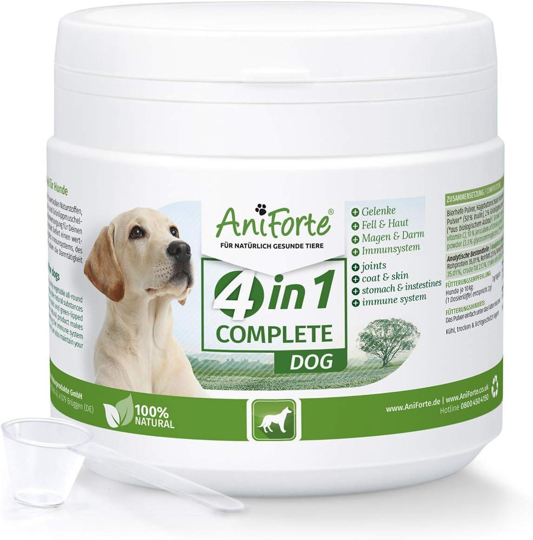AniForte 4in1 Complete para Perros 250g - Cuidado Integral Natural, Ayuda a Las articulaciones, Sistema inmunológico, Piel, Pelaje y Actividad gastrointestinal