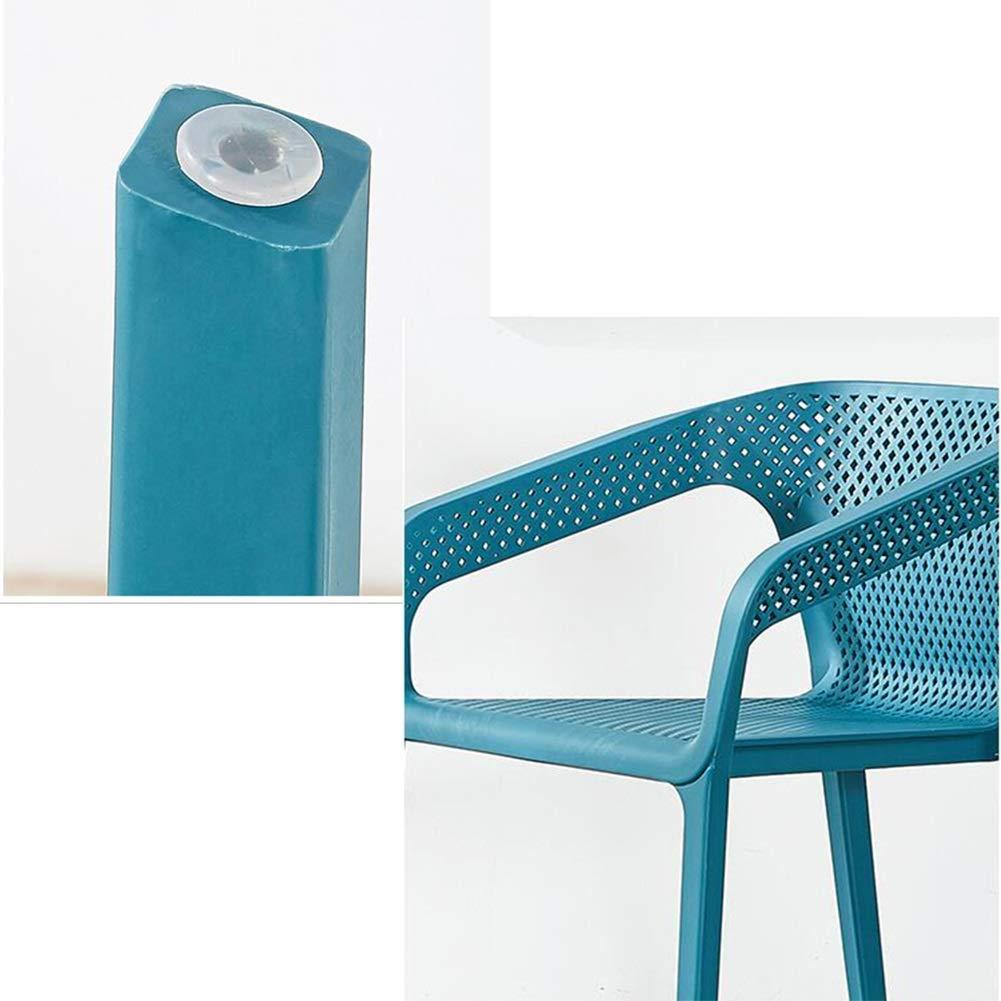 JIEER-C Fritid kontorsstol plast stol set matstolar vardagsrum sovrum kök möbler 2 set hållbar stark BLÅ