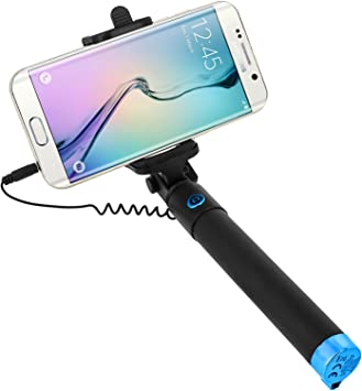 Forever Pértiga de Selfie Smartphone Monopod Selfie Brazo telescópico 21 – 55 cm Conexión Toma Jack 3.5 Soporte Plegable 145 ° Botón Disparador: Amazon.es: Electrónica