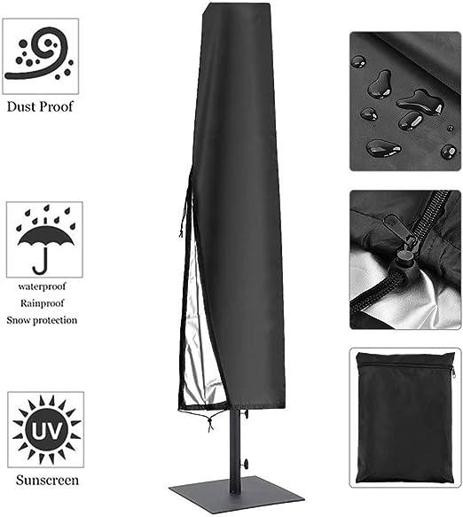 HYCZW Fundas para Sombrillas, Oxford Cubierta De Parasol Impermeable contra Rayos UV Y Lluvia Jardín Protección contra La Nieve Funda Protectora para Parasoles - Negro,600D195X26X55cm: Amazon.es: Hogar