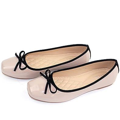 Vorwerk 婦人靴 レディース ローヒール フラットシューズ 軽量 耐久 靴 大きいサイズ アプリコット 22.5