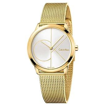 Calvin Klein Reloj Analogico para Mujer de Cuarzo con Correa en Acero Inoxidable K3M22526: Amazon.es: Relojes