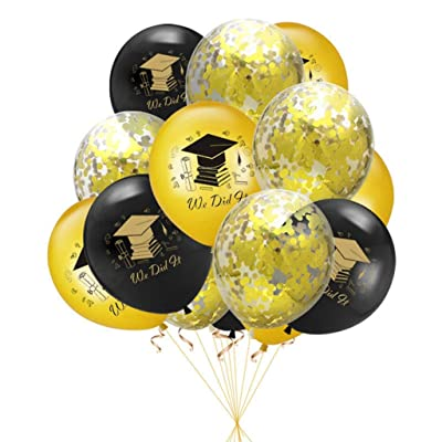 "Cieovo 30pcs Graduation 12"" Latex Balloons Decorations 2020 Graduation Party Supplies Decorations for Graduation Celebration: Toys & Games"