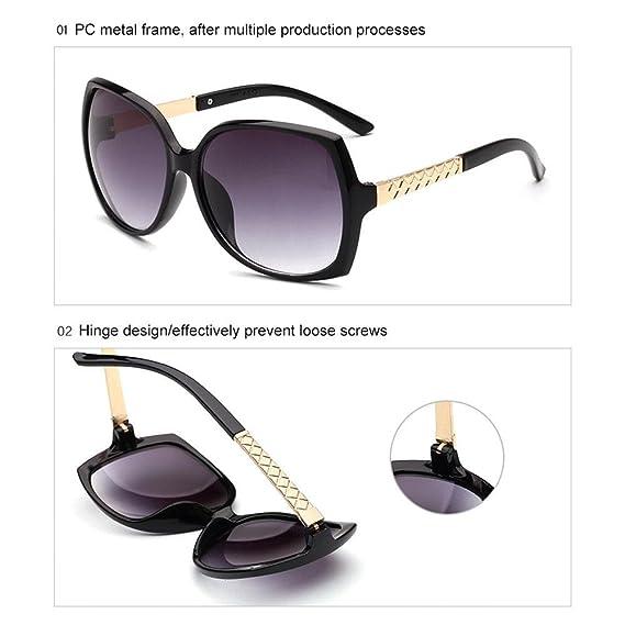 Gafas de sol de aluminio de magnesio para hombre y mujer, estilo vintage, con caja de almacenamiento, blanco: Amazon.es: Deportes y aire libre
