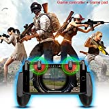 Cheap Mobile Game Controller Set Lunies Sensitive Shoot,Aim Buttons L1R1 for PUBG/Rules of Survival Cell Phone Game Controller for iPhone Android