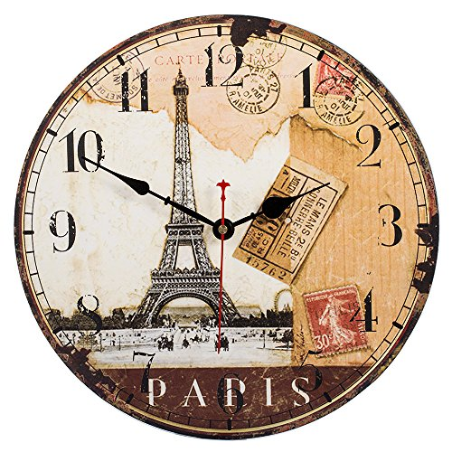 white vintage wall clock - 4