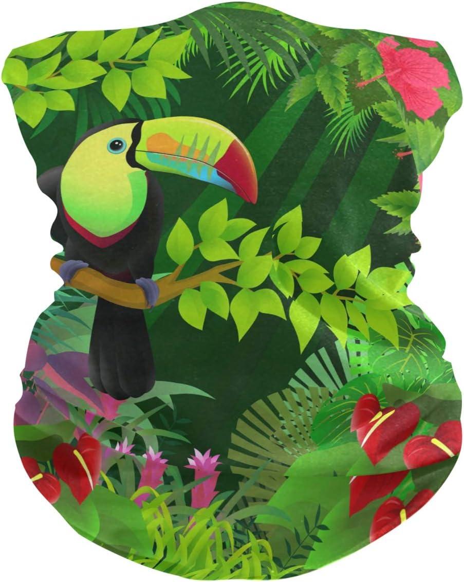 LDIYEU Pájaro Carpintero Verde Pañuelo Bandana para la Cara 3D Balaclava Motero Bufanda Ciclismo Bici Máscara Facial Protección UV para Ciclismo Niñas Mujeres Hombres(2PACK)