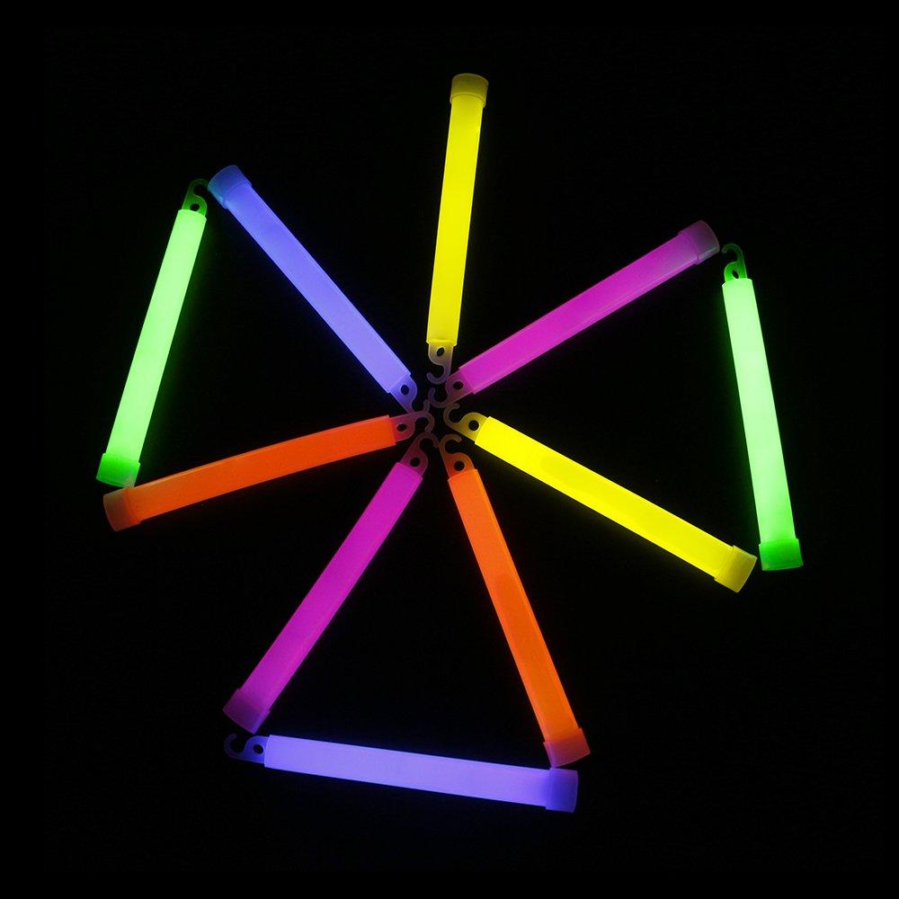 "Novelinks 25 Pcs 6/"" Premium Glow Sticks Bulk Glow Necklaces Bulk Light up Necklaces Bulk Glow in The Dark Necklaces"