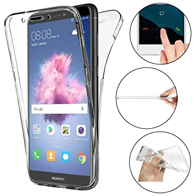 super popular f49eb 816cc ToDo Huawei P Smart Case, 360 Degree Clear Ultra Slim Transparent Soft Gel  TPU Silicone Case Cover for Huawei P Smart Shockproof [Front and Back] Full  ...