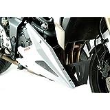 Sabot moteur en maille pour Kawasaki Z800 13-15 13–15 Blanc argenté