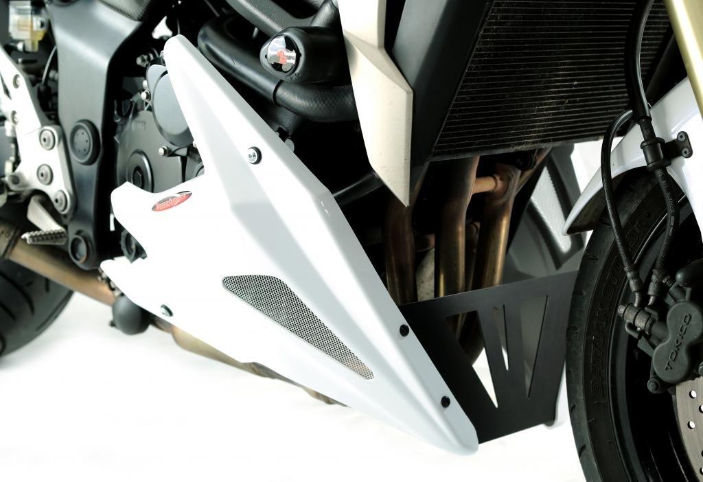 Powerbronze SUZUKI GSR750 11-15//GSX-S750 15//WHITE-SILVER MESH NEW STYLE BELLY PAN