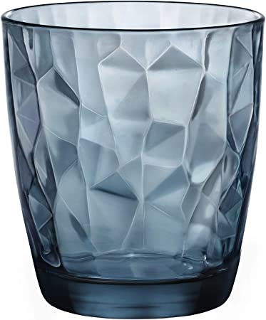 Diamond Blue - Vaso para Whisky, 39 cl, Pack con 6 vasos: Amazon.es: Hogar