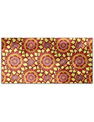 Oriental Sun Mandala Rectangle Tablecloth Large Dining Room Kitchen Woven Polyester Custom Print